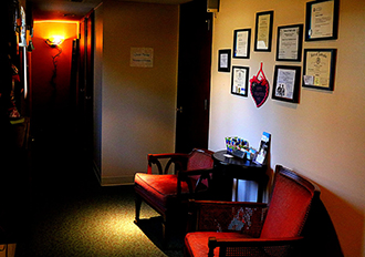 Lobby with 2 chairs A Healthy Choice Massage Day Spa